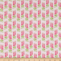 Riley Blake Sweet Melody Tall Flowers Light Pink