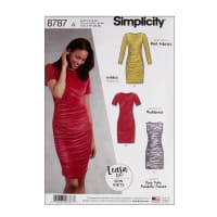 Simplicity 8787 Learn to Sew Knit Dress A (Sizes 6-18)