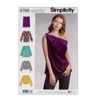 Simplicity 8788 Misses' Pullover Tops H5 (6-8-10-12-14)