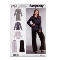 Simplicity 8794 Misses' Jacket, Top and Pants U5 (Sizes 16-24)