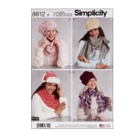 Simplicity 8812 Misses Cold Weather Accessories A (All Sizes)