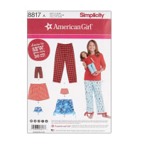 Simplicity 8817 Girl and Doll Lounge Pants and Shorts A (Sizes 8-16)