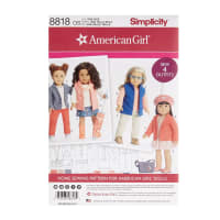 """Simplicity 8818 American Girl 18"""" Doll Clothes OS (One Size)"""