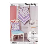 Simplicity 8823 Quilted Blanket and Pillow OS (One Size)
