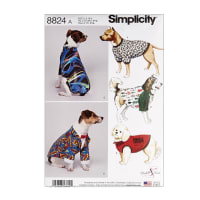 Simplicity 8824 Dog Coats in Three Sizes A (Sizes S-M-L)