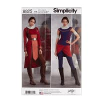 Simplicity 8825 Misses Knit Warrior Costumes H5 (6-8-10-12-14)