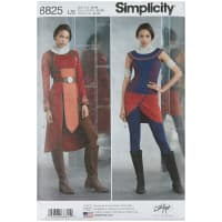 Simplicity 8825 Misses Knit Warrior Costumes U5 (Sizes 16-24)