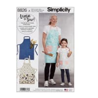 Simplicity 8826 Child's and Misses' Aprons A (Sizes S-L/S-L)