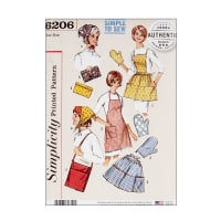 Simplicity 6206 Vintage Gift and Accessories OS (One Size)