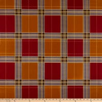 Supreme Kente African Print 6 Yards Plaid Brown