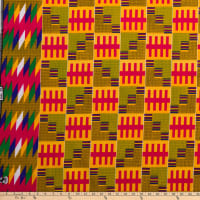 Supreme Kente African Print 6 Yards Red/Green/Blue
