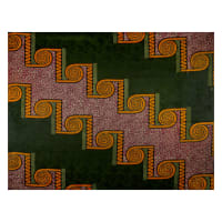 Supreme Basin African Ankara Wax Print 6 Yards Green Spiral