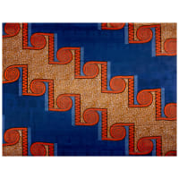 Supreme Basin African Wax Print 6 Yards Blue Spiral