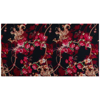 Dolce & Gabbana Digital Floral Dragon Viscose Crepe Multi
