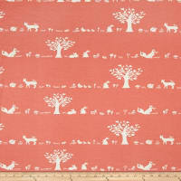 Birch Organic Storyboek Drie Forest Friends Stretch Jersey Knit Coral
