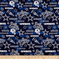 NFL Cotton Broadcloth Dallas Cowboys Retro Blue