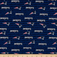 NFL Cotton Broadcloth New England Patriots Mini Navy