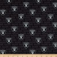 NFL Cotton Broadcloth Oakland Raiders Mini Black