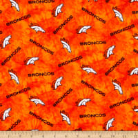 NFL Flannel Denver Broncos Tie Dye Orange