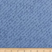 Penny Rose Home Again Script Blue