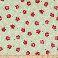 Penny Rose May Belle Floral Green