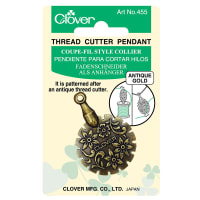 Thread Cutter Pendant (Antique Gold)