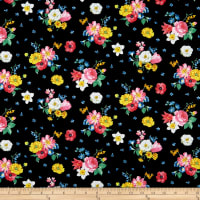 Penny Rose Fabrics-Afternoon Picnic Floral Black