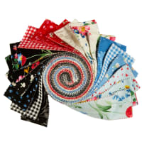"Penny Rose Fabrics-Afternoon Picnic 2.5"" Rolie Polie, 40 Pcs."