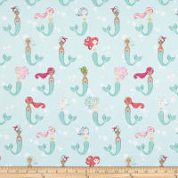 Riley Blake Designs-Lets Be Mermaids Main Mint