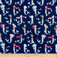 Riley Blake Designs-Lets Be Mermaids Main Navy