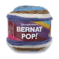 Bernat Pop! Yarn, Birch Bark & Blue