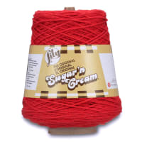 Lily Sugar'n Cream Cone Yarn, Red