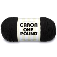 Caron One Pound Yarn, Black