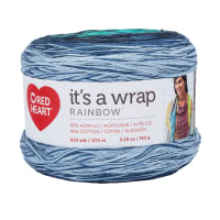 Red Heart It's A Wrap Rainbow Nautical