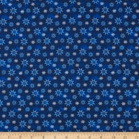 A Quilter's Christmas Winter Snowflake Dark Blue