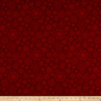 Benartex A Festive Season 3 Tonal Snowflake Dark Red