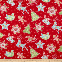 Contempo Christmas Magic Gingerbread Red