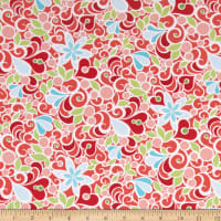 Contempo Christmas Magic Floral Red