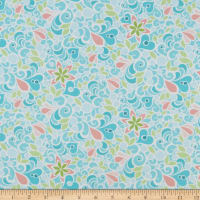 Contempo Christmas Magic Floral Aqua
