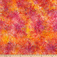 Benartex Bali Batiks Fiesta Forest Leaf Bright Multi