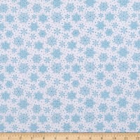 Contempo Hearty the Snowman Snowflakes White/Turquoise