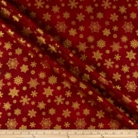 Benartex Cat-I-tude Christmas Playful Flakes Red