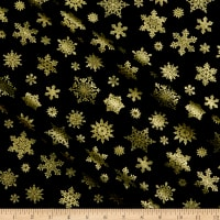 Benartex Cat-I-tude Christmas Playful Flakes Black