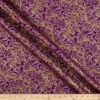 Benartex Cat-I-tude Christmas Featherly Paisley Plum