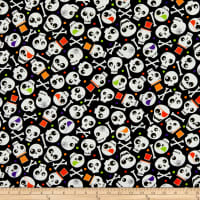 Kanvas Faboolous Fun Spooky Skulls Black