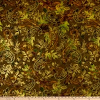 Kanvas Harvest Gold Harvest Paisley Leaf Green
