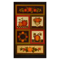 "Benartex Harvest Berry 24"" Panel Spice Multi"