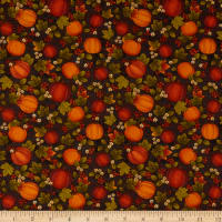 Benartex Harvest Berry Harvest Pumpkin Black/Multi