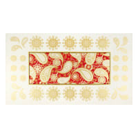 "Benartex Jubilee Holiday Embroidery 24"" Panel Red"
