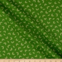Benartex Jubilee Holiday Little Leaves Green